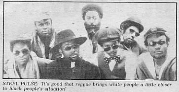 Steel Pulse group photo - from Melody Maker.