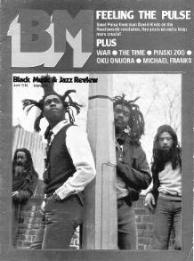 Steel Pulse on the cover of Black Music April 1982