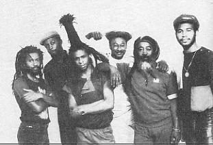 Steel Pulse: [LR] Phonso Martin, Selwyn Brown, David Hinds, Alvin Ewen, Grizzly Nisbett, Carlton Bryan.