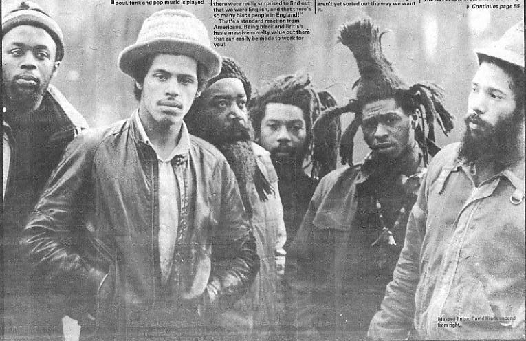 Steel Pulse, back in Britain after a spell away... [photo NME]