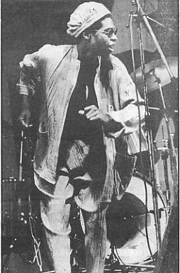 Steel Pulse's David Hinds on stage.
