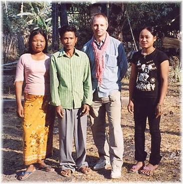 Sinoun, Phearng, the author and Jana.