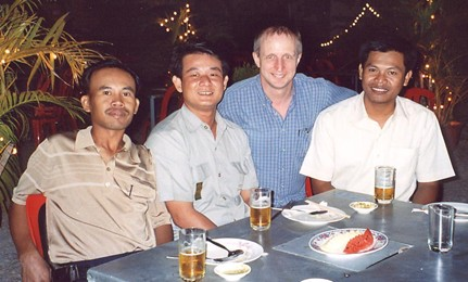 A boy's night out in Siem Reap, January 2007.