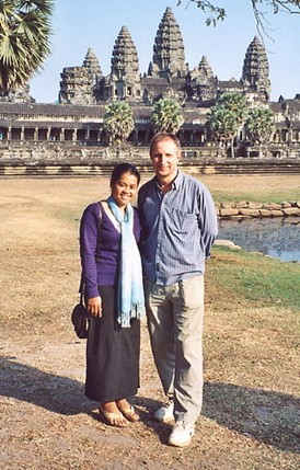 Socheata and the author in front of Angkor Wat.