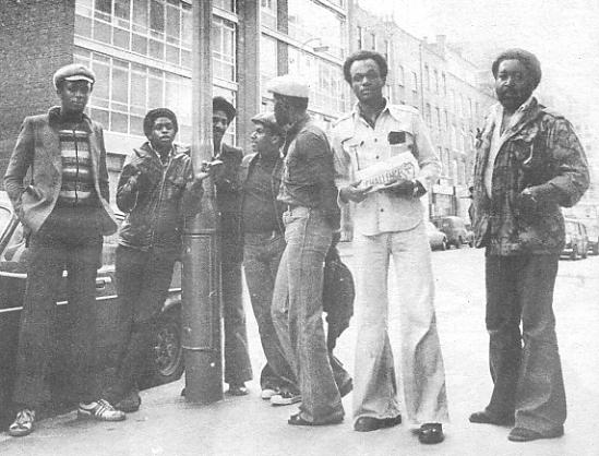 Steel Pulse hang out on a London street for photographer Stevenson & Sounds.d
