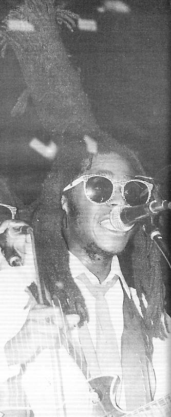 David Hinds on stage in Birmingham, Sept 1985.