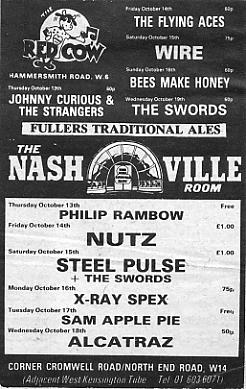 The NME poster for that week's Nashville Room concerts.
