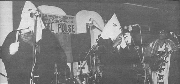 Steel Pulse on stage in Nov '77 [photo: Barry Plummer/MM]