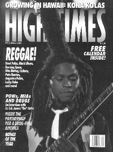 David Hinds on the cover of High Times, Dec 1991.