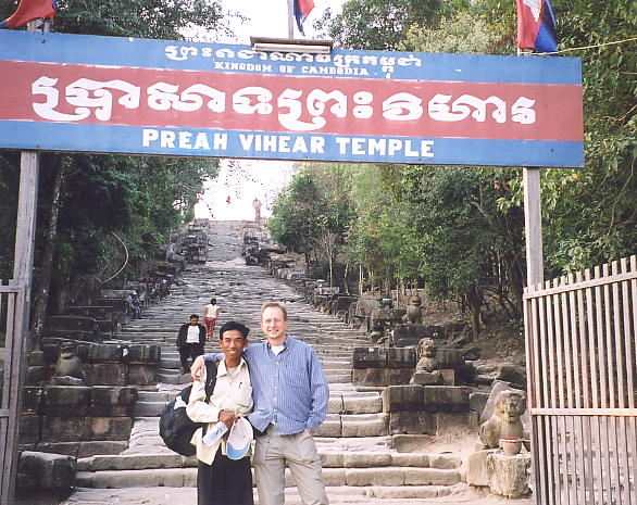 Jan 2005 at Preah Vihear - Sokhom and the author.