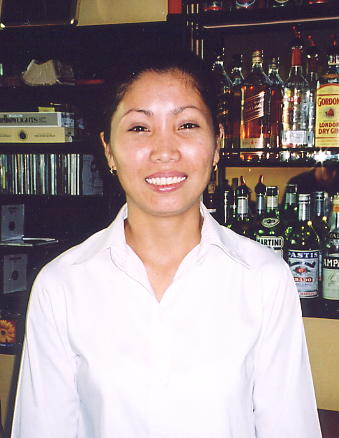 Samnang, of the winning smile and Rising Sun pub in Phnom Penh.