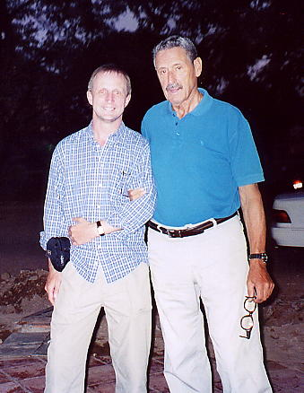 Vittorio Roveda (right) and myself meet in Siem Reap, Jan 2006.