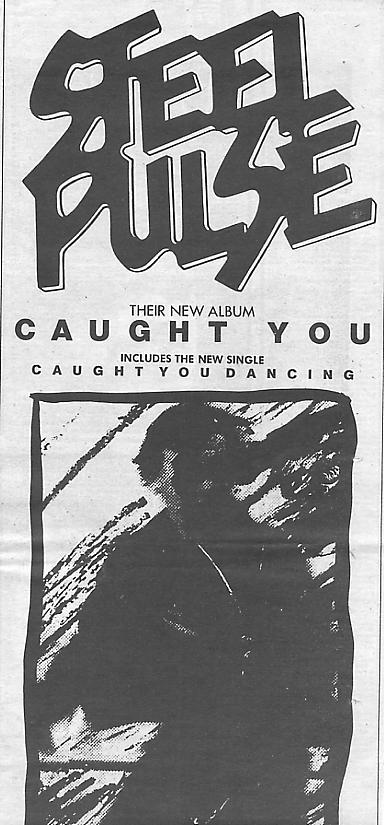 Sounds' advert for Caught You (1980).