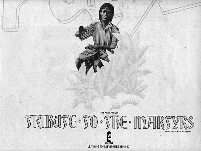 Melody Maker advert for Tribute To The Martyrs - June 1979.