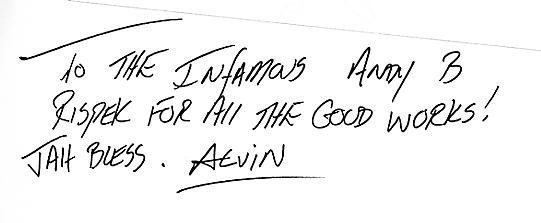 Alvin Ewen autograph - Aug 2003