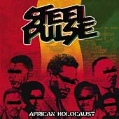 The cover of the new Steel Pulse album, African Holocaust.