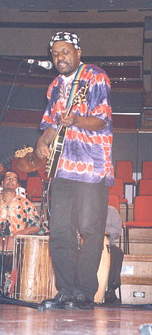 Basil leading from the front, at the Birmingham Symphony Hall, 2002 (photo: Andy Brouwer)