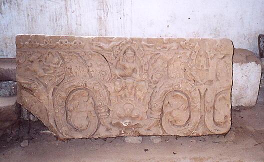 A lintel at Wat Po Veal.