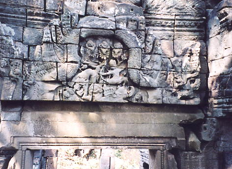 Another carved pediment above a doorway, minus the lintel.