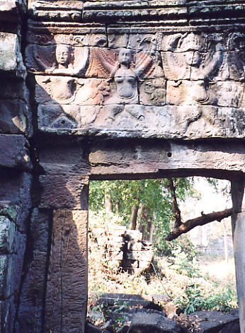 Another doorway, this time with dancing apsaras.