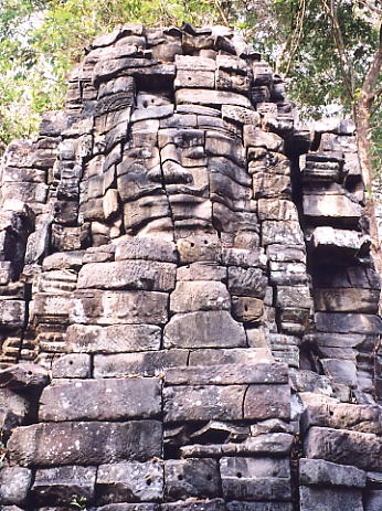 One of the face towers at Banteay Chhmar.