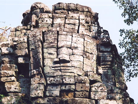 Face tower at Prasat Samnang Tasok.