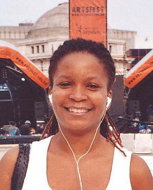 Keysha McTaggart - vocalist with Steel Pulse, pictured Sept 2005.