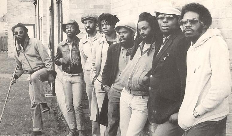 The Black Roots line-up in 1981.