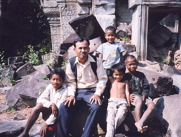 Our young Prasat Banteay Thom guides with my pal Rieng.