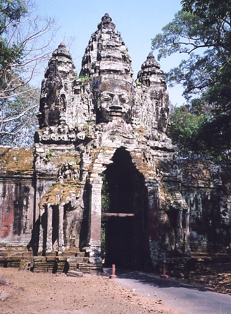 The always impressive North Gate of Angkor Thom.
