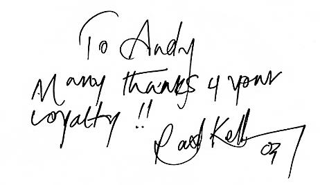 Conrad Kelly autograph - Aug 2003