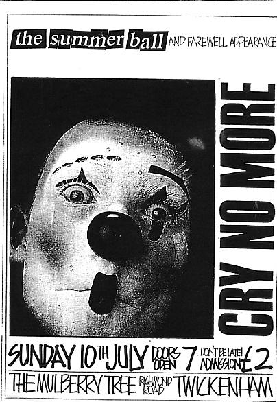 A Cry No More concert flyer from 10 July 1990 [click to enlarge]