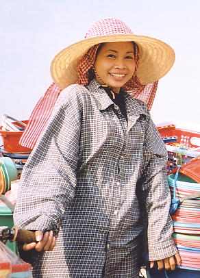 Dany and her dazzling smile, Phnom Penh, March 2002.