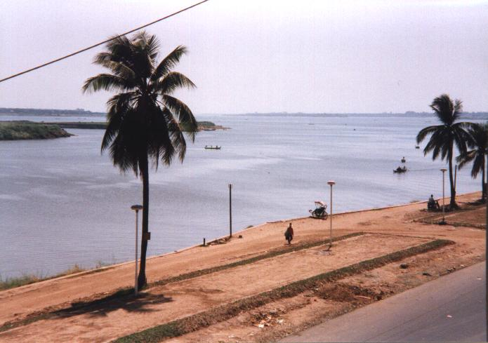 The view over the Tonle Sap & Mekong Rivers from the balcony of the FCCC.