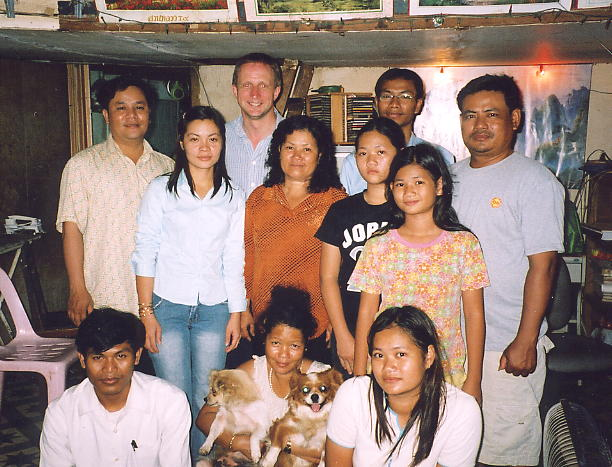 A party team photo at the home of friends in the Tuol Kauk district of Phnom Penh.