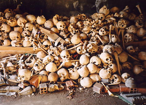 Khmer Rouge victims at Wat Nokor were substantial.