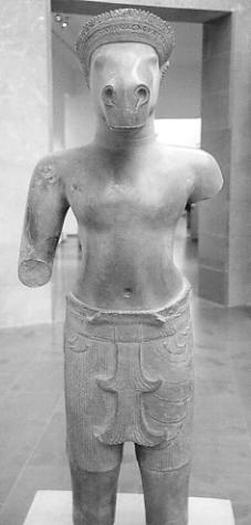 A Vajimukha statue from Sambor Prei Kuk, now at the Guimet Museum, Paris.