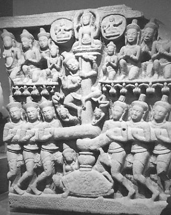 A representation of the Churning of the Sea of Milk from Phnom Da.