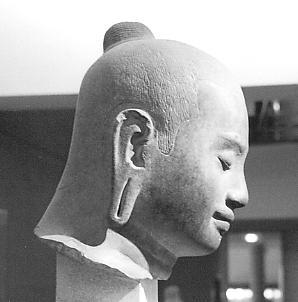Portrait of Jayavarman VII, late 12th century, Guimet Museum, Paris.
