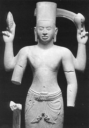Vishnu from Prasat Rup Arak, Phnom Kulen, Guimet Museum, Paris.
