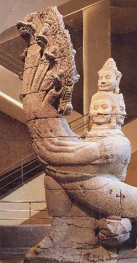 The Giant's Way from Preah Khan, Angkor, Guimet Museum, Paris.