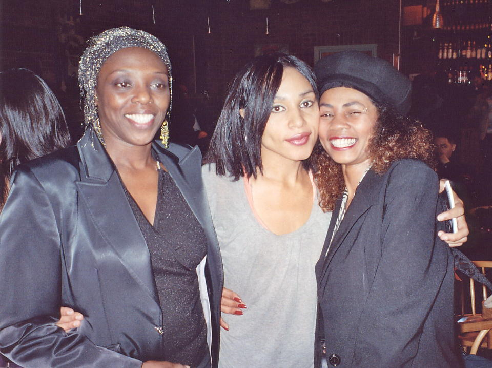 Left to right: Jean Mclean, Anne-Marie and Yaz Alexander, Nov 2006.