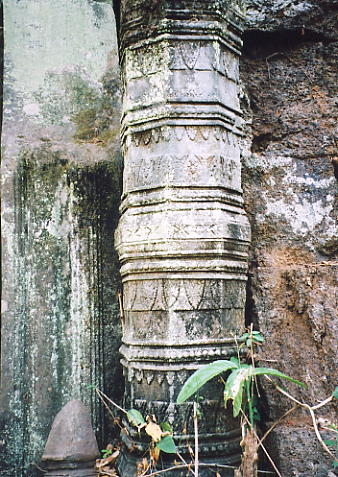 A sculptured colonette at Prasat Chen.