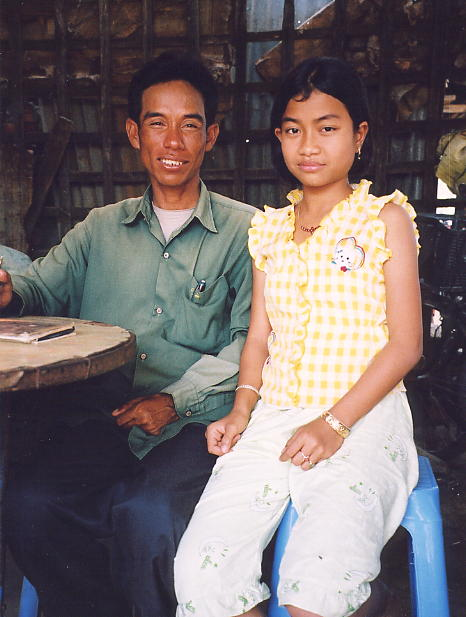 Sokhom and his adorable daughter, Kunthea.