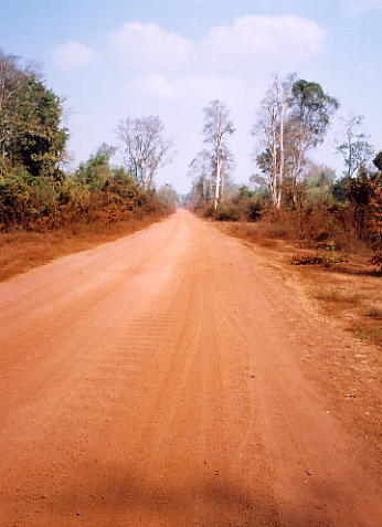 The new road to Koh Ker just past Beng Mealea.