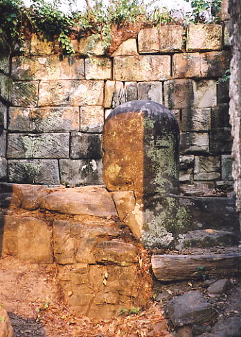 The linga and base in Prasat Leung 2.