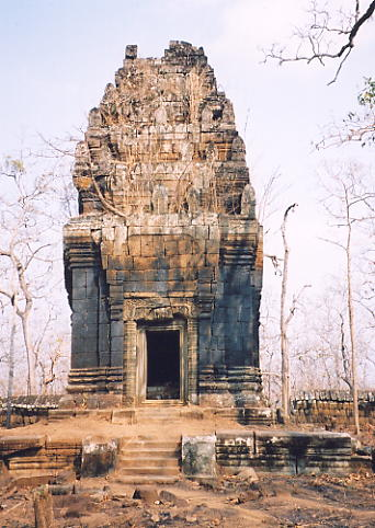 The solitary tower at Prasat Neang Khmau.