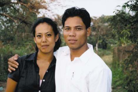 Li-Da Kruger and Sunny in Cambodia.