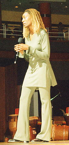 Leonie on stage at the Birmingham Symphony Hall - Sept 2004.