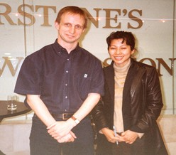 Loung Ung with the website author at a book reading in Birmingham, England.